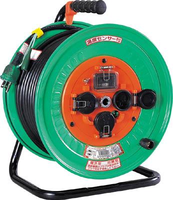 日動 電工ドラム 防雨防塵型100Vドラム アース漏電しゃ断器付 30m【NW-EB33】(コードリール・延長コード・コードリール防雨型)【S1】