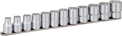 TONE ソケットセット(12角・ホルダー付)インチサイズ 12pcs HDB412