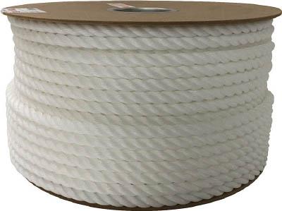 ユタカ ポリエチレンロープドラム巻 12mm×100m ホワイト PRE67