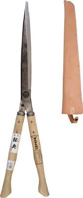 鋼典 刈込鋏 安来鋼付ネジ式トメ付 1尺樫 和釘打桂コブ柄 A71