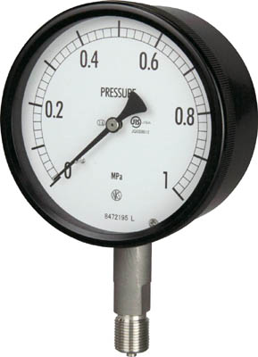長野 密閉形圧力計【BE10-133-0.6MP】(計測機器・圧力計)