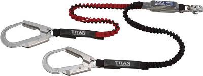 タイタン EXJハーネス用ランヤード ダブル ブラック/レッド DJMRSATW24APEXBR