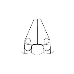 白光 ベント型ストレートブレード(2本セット) G21601【送料無料】