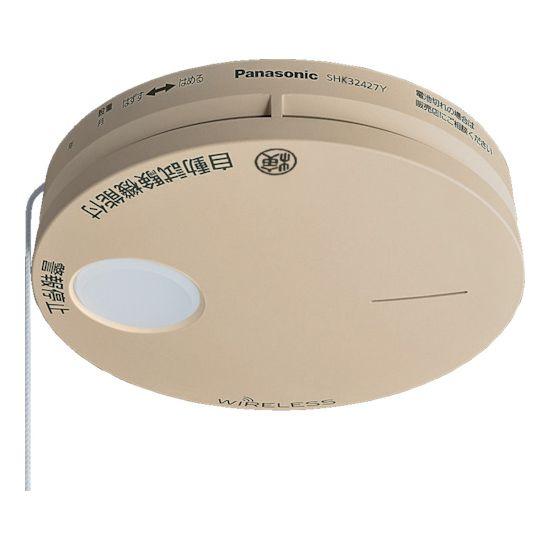 Panasonic 煙当番薄型 電池ワイヤレス連動子器(和室色) SHK32427YK【送料無料】