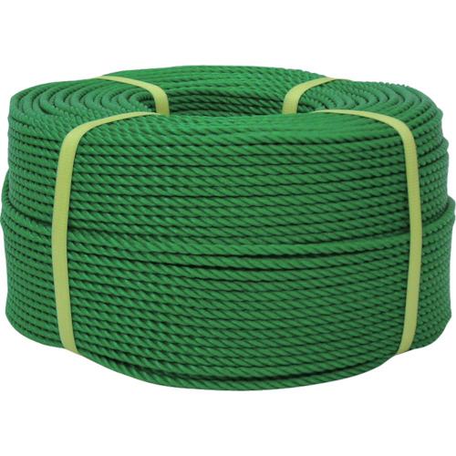 ユタカ ロープ PEロープ巻物 9φ×200m グリーン PE53【送料無料】