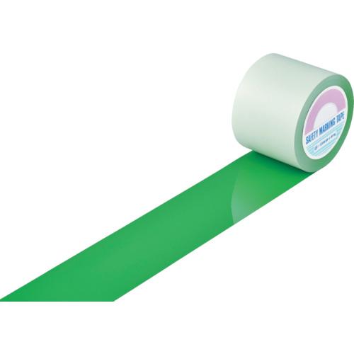 緑十字 ガードテープ(ラインテープ) 緑 100mm幅×100m 屋内用【送料無料】