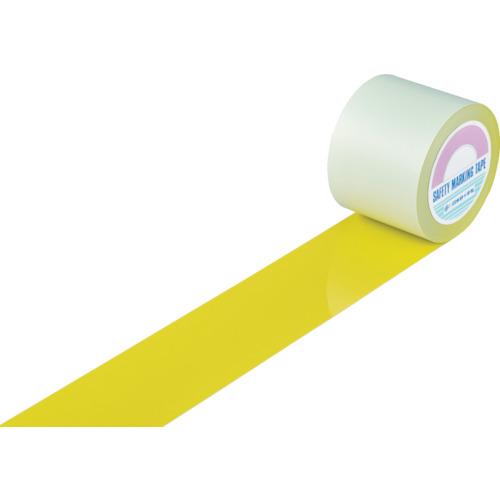 緑十字 ガードテープ(ラインテープ) 黄 100mm幅×20m 屋内用【送料無料】