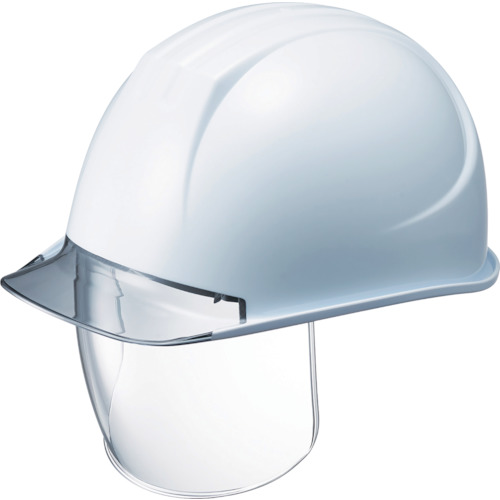 タニザワ 特大型ヘルメット シールド面付 溝付 透明ひさし付 161VL2SDCV2W3J【送料無料】