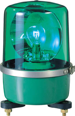 パトライト SKP-A型 中型回転灯 Φ138 緑【SKP-104A GN】(電気・電子部品・表示灯)