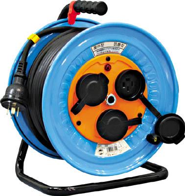 日動 電工ドラム 防雨防塵型三相200V アース付 30m【DNW-E330-20A】(コードリール・延長コード・コードリール200V)