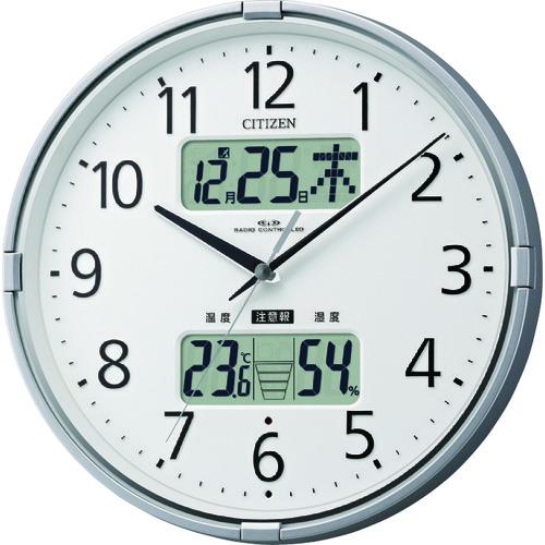 シチズン 電波掛時計(温度・湿度・カレンダー表示付) 4FY618019【送料無料】