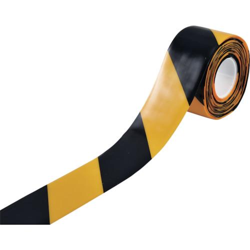 緑十字 高耐久ラインテープ 黄/黒 100mm幅×10m 両端テーパー構造 403087【送料無料】