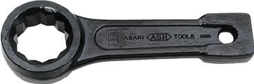 ASH 打撃めがねレンチ60mm【DR0060】(レンチ・スパナ・プーラ・フレアナットレンチ)