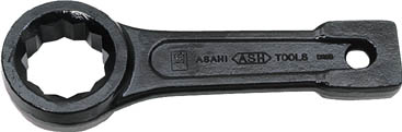 ASH 打撃めがねレンチ63mm【DR0063】(レンチ・スパナ・プーラ・フレアナットレンチ)