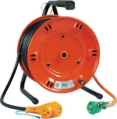 日動 電工ドラム びっくリール 100V アース付 20m【NL-E20S】(コードリール・延長コード・コードリール逆配電型)