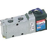 日本精器 4方向電磁弁8AAC200Vグロメット7Vシリーズシングル【BN-7V43-8-G-E200】(空圧・油圧機器・電磁弁)
