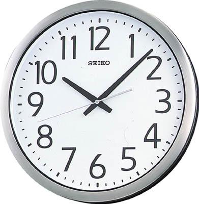 SEIKO 防湿・防塵型オフィスクロック 直径381×40 金属枠【KH406S】(OA・事務用品・掛時計)