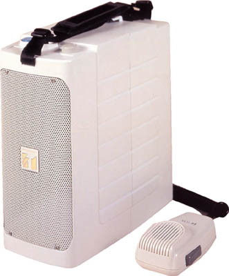TOA ショルダー型コンパクトメガホン ホイッスル音付き【ER-604W】(安全用品・標識・拡声器)