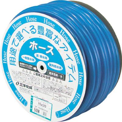 サンヨー ガゼットホース15×20 クリアブルー 50mドラム巻【GA-1520D50CB】(ホース・散水用品・ホース)