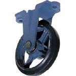 京町 鋳物製金具付ゴム車輪250MM【AU-250】(キャスター・鋳物製キャスター)