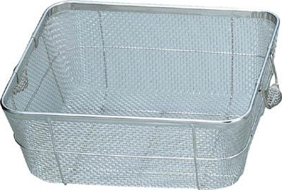 スギコ ステンレスバスケット 浅型中 370×315×100【SC-P】(ボトル・容器・ザル・カゴ)