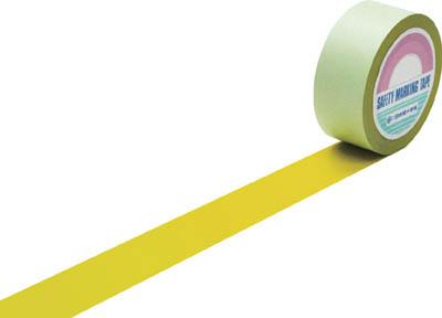緑十字 ラインテープ(ガードテープ) 黄 50mm幅×100m 屋内用【148053】(テープ用品・ラインテープ)