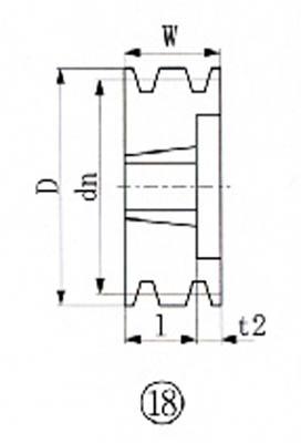 EVN ブッシングプーリー SPA 180mm 溝数3【SPA180-3】(駆動機器・ベアリング・プーリー)