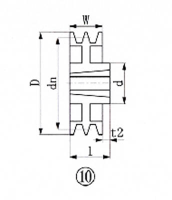 EVN ブッシングプーリー SPA 236mm 溝数2【SPA236-2】(駆動機器・ベアリング・プーリー)