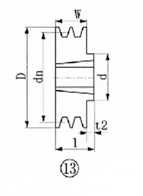 EVN ブッシングプーリー SPB 195mm 溝数2【SPB195-2】(駆動機器・ベアリング・プーリー)【S1】