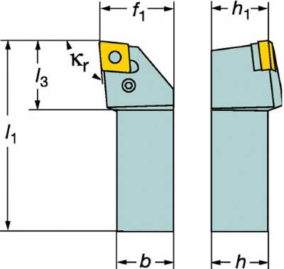 サンドビック T-Max P ネガチップ用シャンクバイト【PCLNL 2525M 12】(旋削・フライス加工工具・ホルダー)