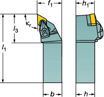 サンドビック コロターンRC ネガチップ用シャンクバイト【DDJNR2525M1504】(旋削・フライス加工工具・ホルダー)