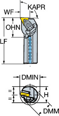 【お取り寄せ】 ネガチップ用ボーリングバイト【A40T-DTFNR サンドビック 22】(旋削・フライス加工工具・ホルダー):リコメン堂 コロターンRC-DIY・工具