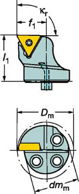 サンドビック コロターンSL コロターン107用カッティングヘッド【570-STFCR-25-11-B1】(旋削・フライス加工工具・ホルダー)
