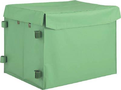 TRUSCO ハンドトラックボックス蓋つき650×470【THB-100E】(運搬台車・樹脂製運搬車)