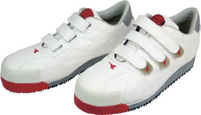 ディアドラ DIADORA 安全作業靴 アイビス 白 25.5cm【IB11-255】(安全靴・作業靴・プロテクティブスニーカー)