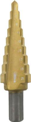 エビ ステージドリル コーティング 5段 軸径10mm【LB412AG】(穴あけ工具・ステップドリル)