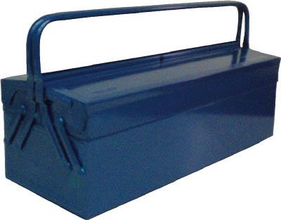 TRUSCO 2段式工具箱 600X220X305 ブルー【GL-600-B】(工具箱・ツールバッグ・スチール製工具箱)