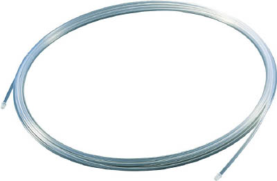 TRUSCO フッ素樹脂チューブ 内径10mmX外径12mm 長さ10m【TPFA12-10】(理化学・クリーンルーム用品・特殊チューブ)
