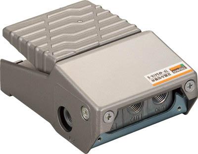 TRUSCO 足踏み切替え弁 ロック付き ポート4【TP-4PA41R-8】(空圧・油圧機器・切替弁)
