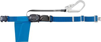 TRUSCO 巻取り式安全帯1本つり専用 幅50mmX長さ1200mm ブルー【GR-OT593B】(保護具・安全帯)