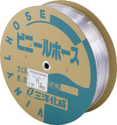 サンヨー 透明ホース15×20 50mドラム巻【TM-1520D50T】(ホース・散水用品・ホース)