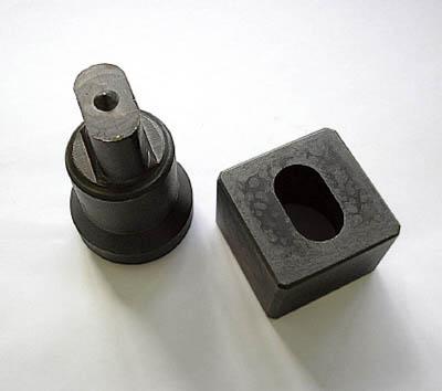 MIE 長穴ダイス(昭和精工用)14X30mm【MLD-14X30-S】(ハンマー・刻印・ポンチ・ポンチ)