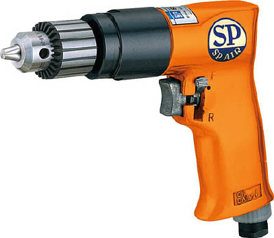 SP エアードリル10mm(正逆回転機構付)【SPD-52】(空圧工具・エアドリル)