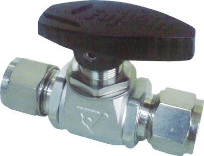 フジキン ステンレス鋼製4.90MPaパネルマウント式ボール弁【PUBV-95-12】(管工機材・バルブ)