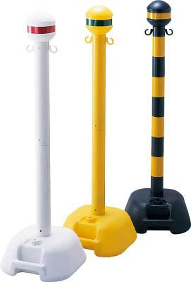 緑十字 チェーンスタンド(ボーダースタンド) 黄 1122×330mm【142002】(安全用品・標識・チェーンスタンド)