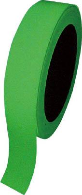 緑十字 高輝度蓄光テープ 25mm幅×10m 屋内用 PET【72004】(テープ用品・安全表示テープ)