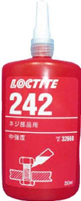 ロックタイト ネジロック剤 242 250ml【242-250】(接着剤・補修剤・ねじゆるみ止め剤)【送料無料】