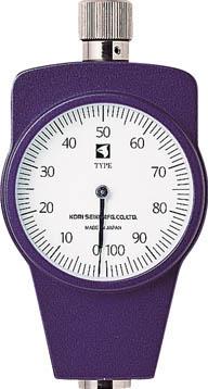 古里 ゴムプラスチック硬度計標準型【KR-14A】(計測機器・硬度計)
