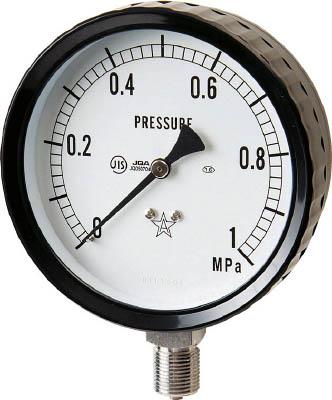 右下 ステンレス圧力計【G411-261-0.1MP】(計測機器・圧力計)