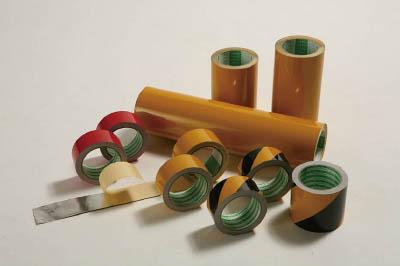 日東エルマテ 粗面反射テープ 200mmx10m 黄【SHT-200Y】(テープ用品・安全表示テープ)